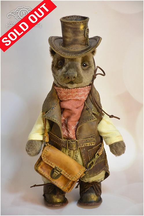 Teddy bear, teddy bear toy, vintage, steampunk, handmade bear. collectible bear