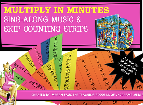 Multiply in Minutes Music and Skip Counting Strips