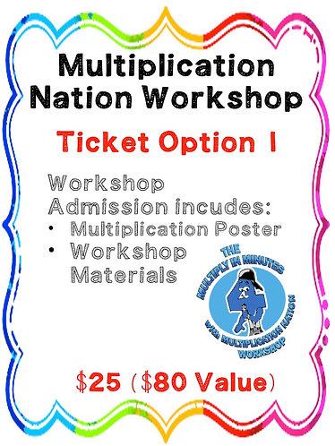 Multiplication Nation Workshop Free Poster