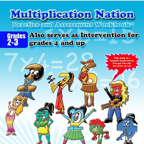 Multiplication Nation  Practice and Assessment Workbook