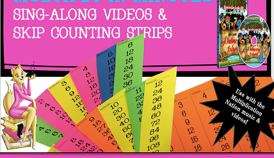 Multiply in Minutes Sing Along  Videos with Skip Counting Strips