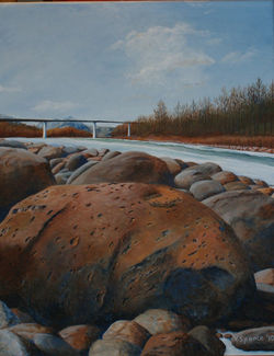 SOLD 'Shoreline Northern Alberta River'.