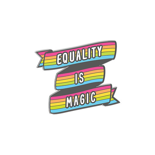 I Am Hexed  Equality Is Magic: Enamel Pin