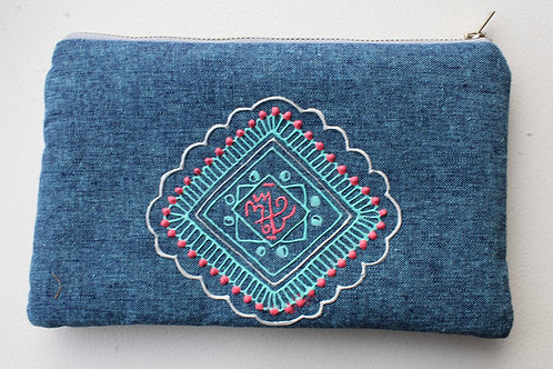 I Am Hexed Denim Glyph Bag #2