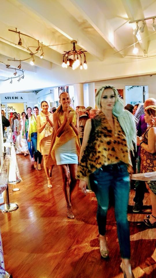 The Heart Of Delray Gallery Violeta Lucce Fashion Show for SuperCar Week.