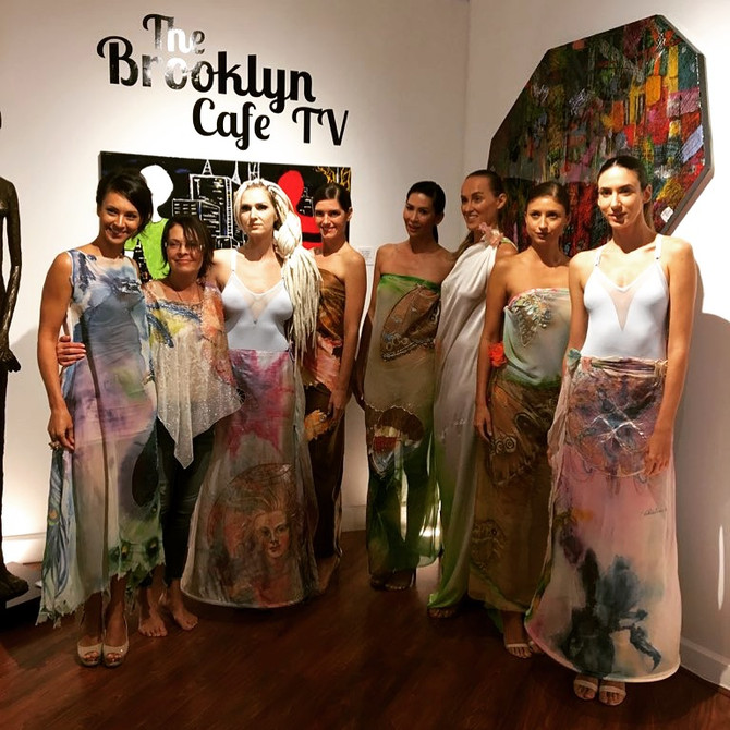 Violeta Lucce magnificent art couture presented in a fashion show for SuperCar Week at the Heart Of