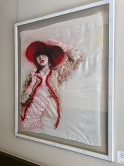 LADY WITH RED BONNET