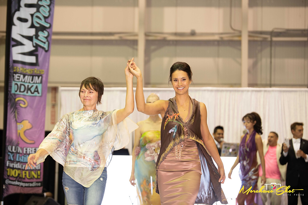 Violeta Lucce Fashion Show at the Wheels, Wings & Fashion Event in Boca Hangar benefiting The Leukemia & Lymphoma Society, Broward Education Foundation Stoneman Douglas Victims' Fund, and Habitat for Humanity of South Palm Beach County.