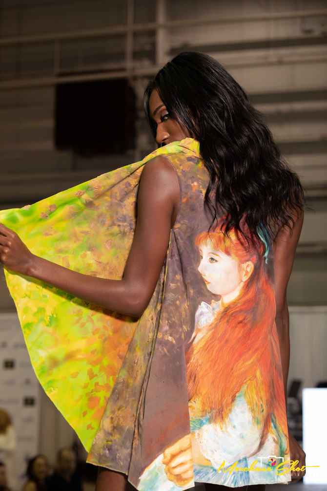 Renoir's famous masterpiece recreated on silk by Violeta Lucce