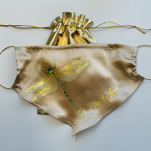 GOLD DRAGONFLY SILK ACCESSORY