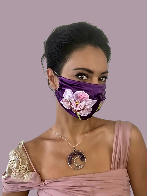 PINK ORCHID 3D SILK MASK