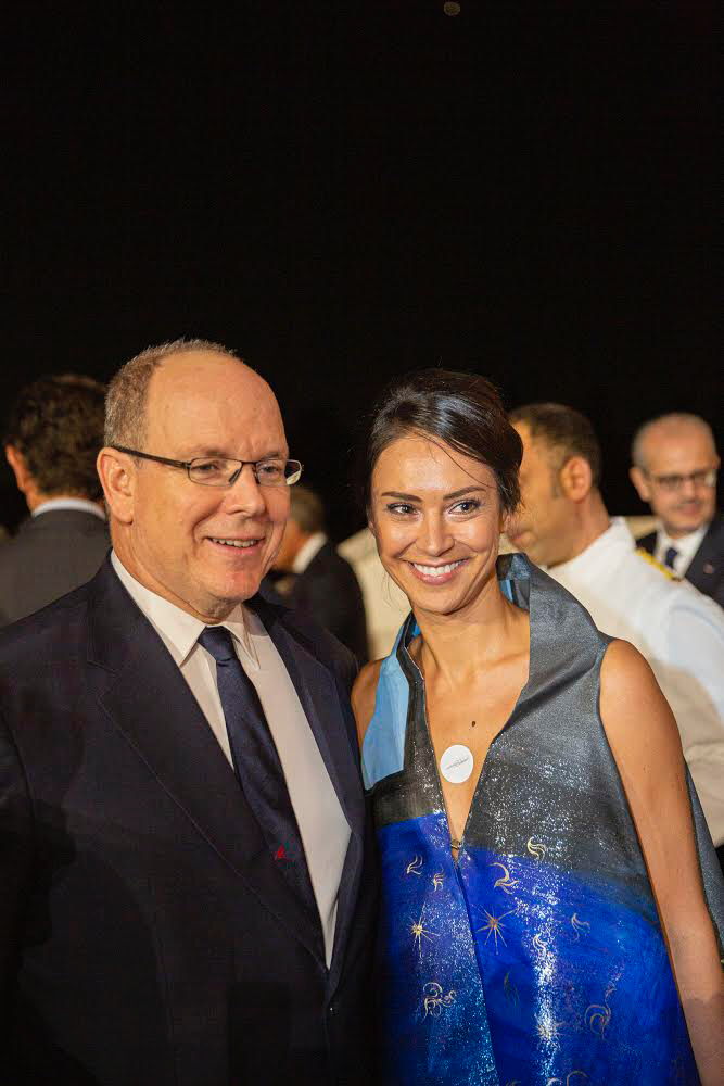 with Prince Albert II de Monaco