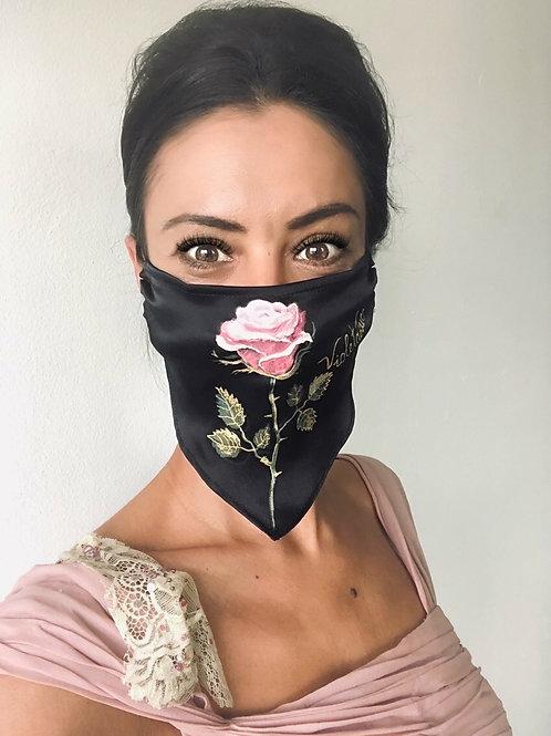 Pink White Rose Mask | Violetalucce