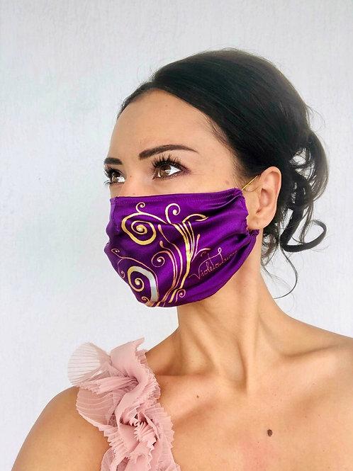 Swarovski Ornament Silk Mask | Violetalucce