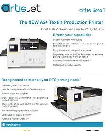 Brotherjet Artis 5000T t-shirt printer