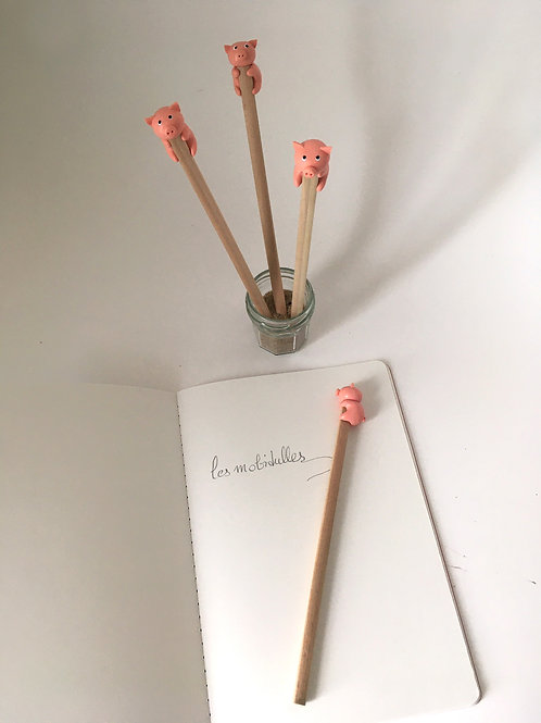 Crayon à papier Cochon Rose