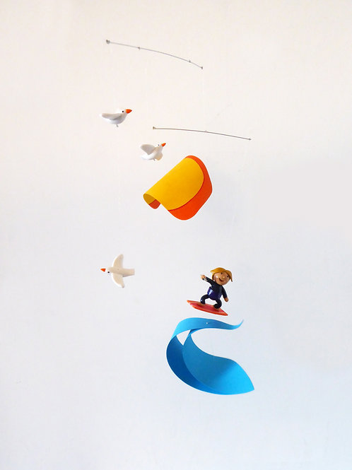 Mobile pour bébé   Kitesurf et Mouettes    fan de Kitesurf