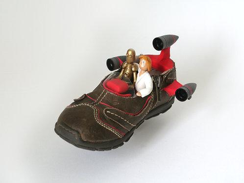 Petite Chaussure devenue Vaisseau StarWars !