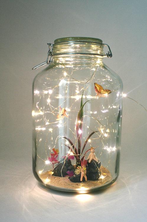 Lampe aquarium à fées, grand modèle à poser