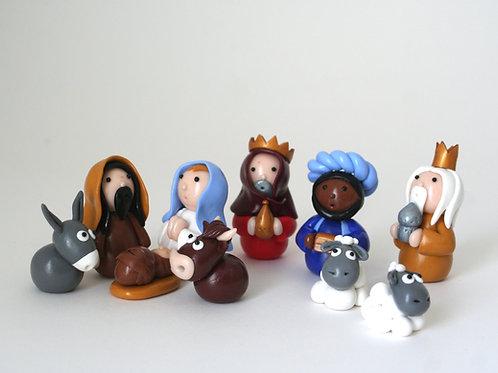 Crèche de Noël 10 personnages