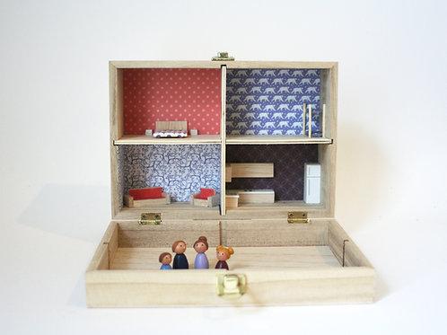 maison de poupée miniature à emporter partout !