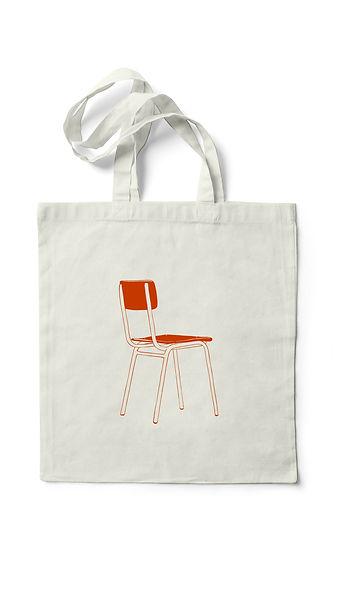 Merchandising del primer treball discogràfic d'Anna Andreu, bossa vermella