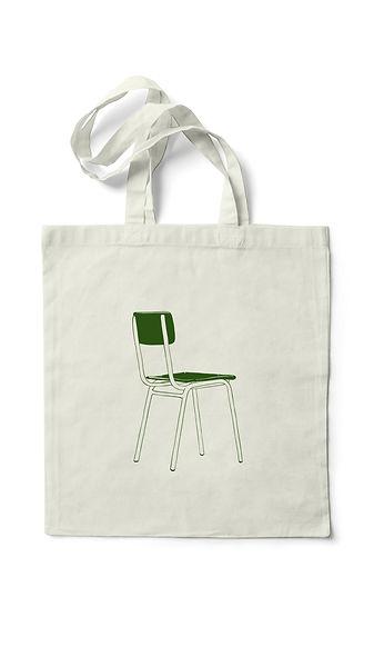 Merchandising del primer treball discogràfic d'Anna Andreu, bossa verda