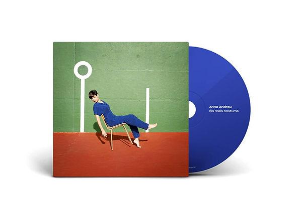 CD Els mals costums, primer treball discogràfic d'Anna Andreu, editat per Hidden Track Records