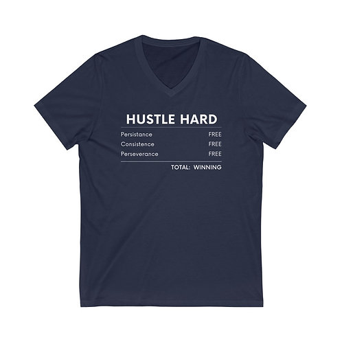 Hustle Hard V-Neck