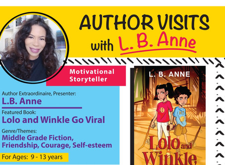 L.B. Anne is doing author visits!