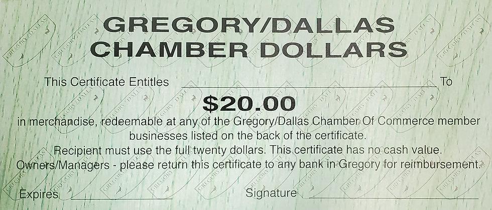 $20 Chamber Buck