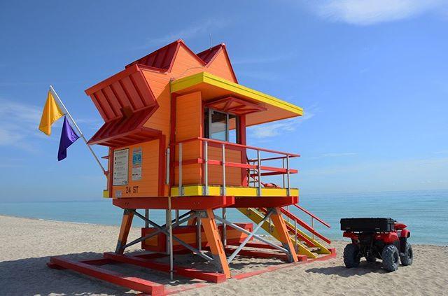 Orange Life Guard Tower