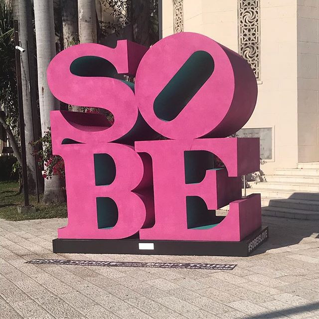 South Beach SOBE Sign