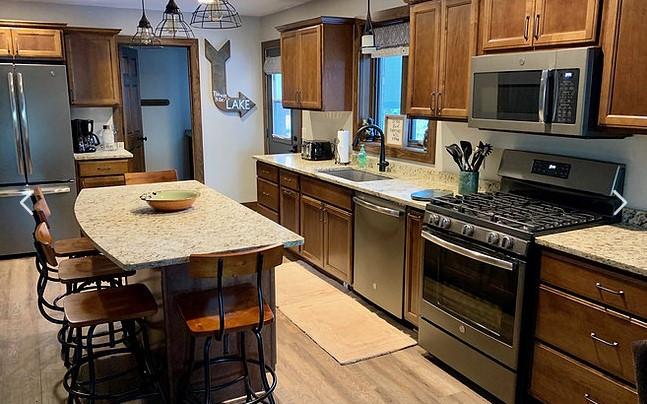 kitchen at northern resort wi
