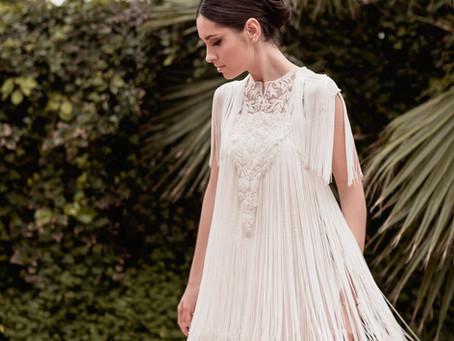 Un vestido de novia con movimiento