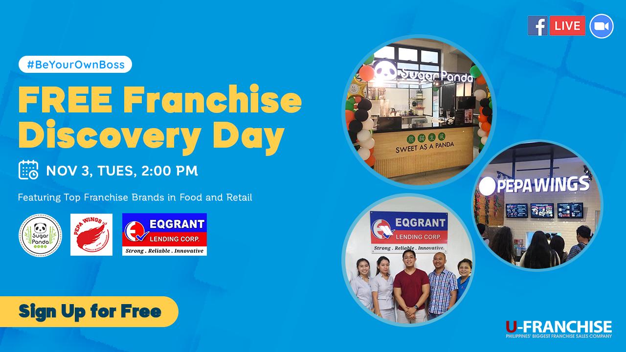 Free Franchise Webinar with Sugar Panda, Pepa Wings and EQ Grant Lending at Nov 3