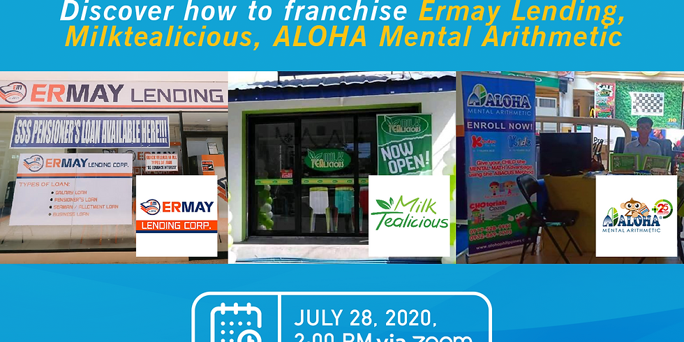 Free Franchise Webinar with Ermay Lending, Milktealicious and Aloha Mental Arithmetic