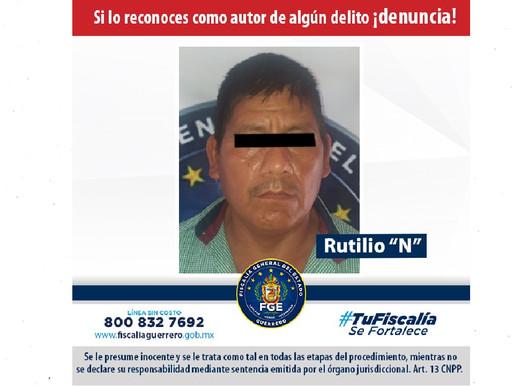 Aprehendieron a Rutilio, hombre que habría violado a su nuera de 11 años