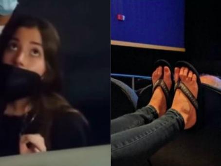 Mujer amenaza con acusar de acoso a empleado de Cinépolis que le pidió bajar pies del asiento