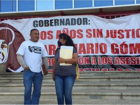 Piden justicia por periodista Mario Gómez, a dos años de su homicidio