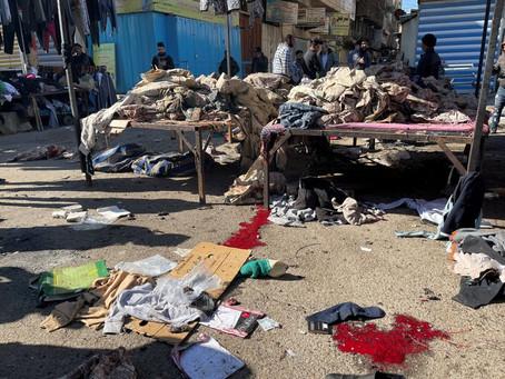 Un atentado suicida en un mercado céntrico de Bagdad dejó al menos 32 muertos y 110 heridos