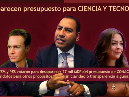 Senadores consuman el golpe más duro a la ciencia y tecnología en México