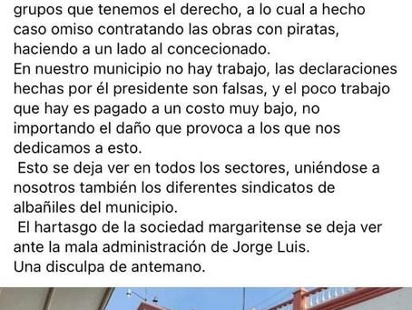 Los albañiles y transportistas de Las Margaritas se están muriendo de hambre: no consiguen trabajo.