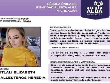 Tras caso de Jessica, Xitlali desaparece en la misma zona de Morelia