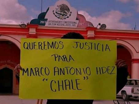 Acusan a la policía municipal de San Juan Mixtepec del asesinato de migrante mixteco