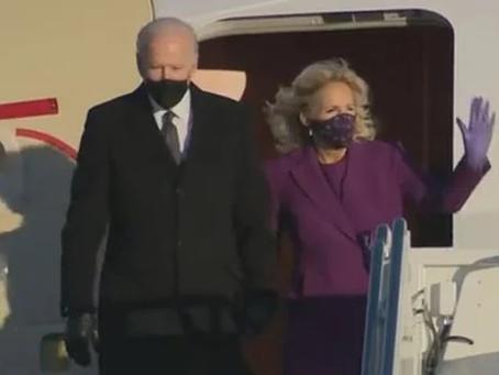 Joe Biden llega Washington D.C. previo a su investidura presidencial