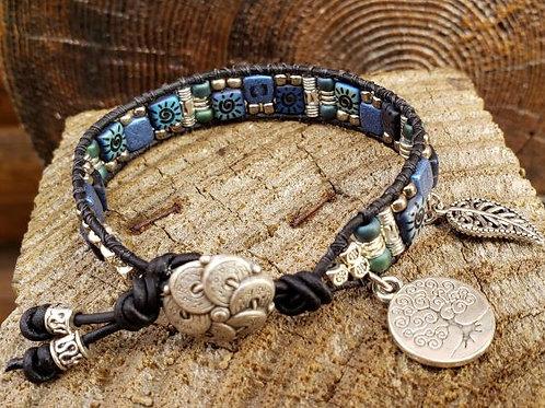 Czech Tile Bracelet #5
