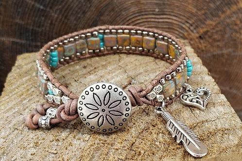 Czech Tile Bracelet #12