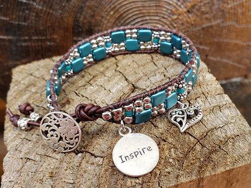 Czech Tile Bracelet #2