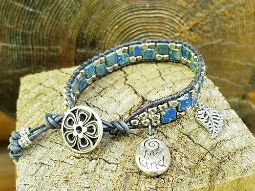 Czech Tile Bracelet #1